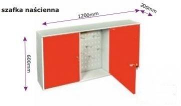 Meble stalowe: szafka naścienna 600 [mm] x 1200 [mm] x 200 [mm]